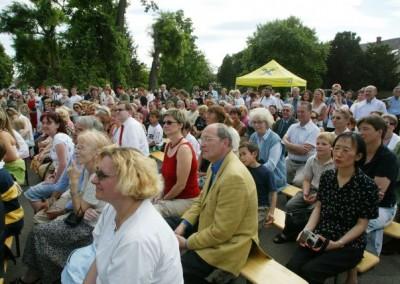 Zuschauer beim Open Air Event